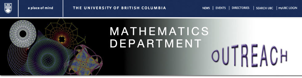 UBC Mathematics Department Outreach Header