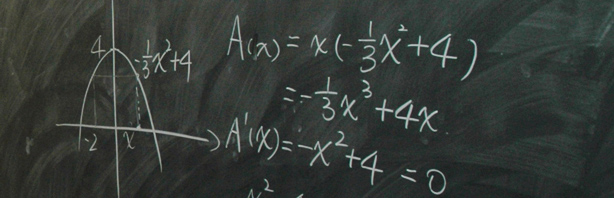 Results header pic - school board with calculus computations